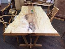 トチ 一枚板 テーブル天板