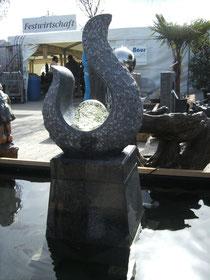 Skulptur Granit Flamme