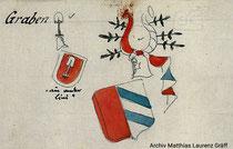 Wappen der Herren von Graben, Varianten