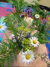ハーブの花束いただきました。