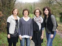 De gauche à droite : Pauline MAGUIS, Christine FORTIN, Marie JANICOT (pilote) et Lucie JARDIN