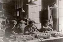 Arbeiter der Wollkämmerei 1925