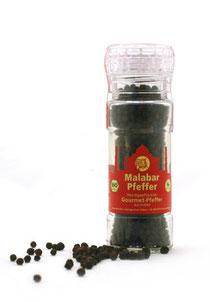 Malabar Pfeffer aus BIO Anbau in der Mühle