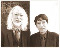 (左)中村隆夫(右)谷川渥