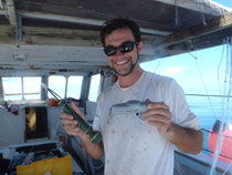 Tagging endangered species in the Marquesas (with funny facial hair)