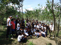 JEC members and Children in the CFP Forest