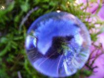 Feenkugeln aus glasklarem Bergkristall