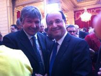 M François HOLLANDE, Président de la République et M Christian MARTIN