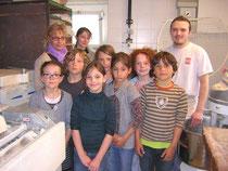Daniel, les enfants et leurs accompagnatrices.
