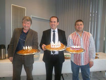Les présidents Christian MARTIN, Hervé SAULIGNAC et Alain MOUNIER