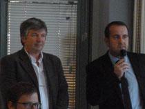 Les Pdts Christian MARTIN et Hervé SAULIGNAC