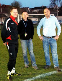 von links: Trainer Ramon Gehrmann, sportlicher Leiter Ivo Popic und Präsident Emir Cerkez