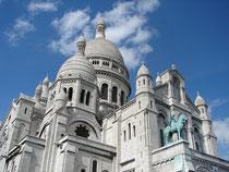 Sacre Coeur, Monmartre, above Paris