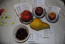 1.Obstgetränk (entspricht 3 Portionen Obst):