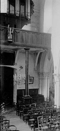 jusqu'avant la deuxième guerre mondiale, la collégiale possédait des orgues