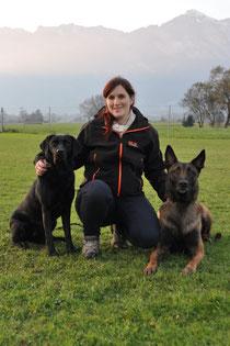 Nicole Wieseneder mit Luna und Chash