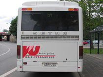 "In Bayern: ""Main-Spessart-Bus""."