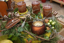 Adventskranz braun-grün