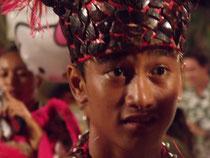 Tänzer eines Tanzfestivals in Bora Bora