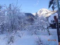 Untertauern im Schnee