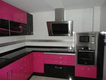 Cocina Martos Rosa y Negra