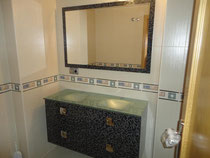 Mueble de baño lavabos plateados
