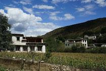 Typisch tibetische Häuser in Kham.