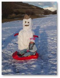 Avec mon copain bonhomme de neige