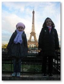 Avec Célia au Trocadéro