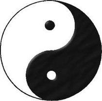 Yin und Yang, ein Symbol für Polarität