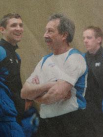 Trainer Harald Claas ist verantwortlich für die gute Stimmung im SGK Team