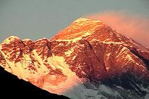 夕日のエベレスト