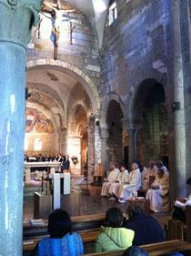 Oblati Benedettini Secolari durante il ritiro a Sant'Egidio