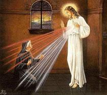 Sveta Faustina pred Isusom