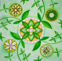 The Garden, 40*40cm watercolor paper, mix medias, 2012