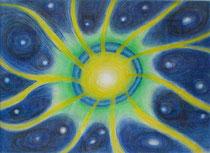 「內在的宇宙 」 39*54cm 粉彩筆、美術紙 2005