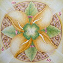 「幸運草的祝福」 15*15 cm 彩色鉛筆、素描紙 2008