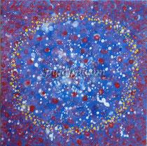 """""""Cells Colony"""", 50*50cm canvas, oil paints, 2012"""