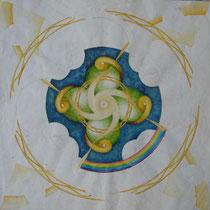 「空間」(未完成) 23*23 cm 水彩、圖畫紙 2005