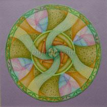 「淡水如花般綻放的生活」 15*15cm 彩色鉛筆、素描紙 2007