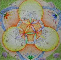 """Celebration of The Colorful Life"", 27*27cm watercolor paper, mix medias"