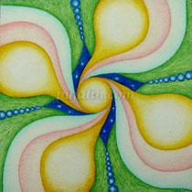 「流」 15*15 cm 彩色鉛筆、水彩、水彩紙 2009