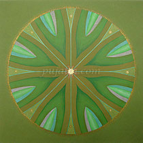 """Impression of Trees"", 37*37cm art paper, mix medias, 2001"