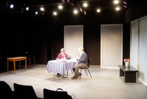 Nancy Franklin and Ed Setrakian in a staged reading of THE NEXT MOVE at Octoberfest 2006 at the Ensemble Studio Theatre, New York City