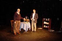 Richard Seff and John Quilty at Ensemble Studio Theatre's Octoberfest 2005