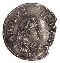 Denar ('Pfennig') Karls des Großen