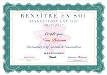 Certificat adhésion
