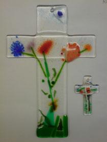 Wandkreuz aus Glas