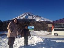 富士山と子供