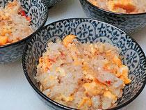 毛蟹のミソ入り炒飯